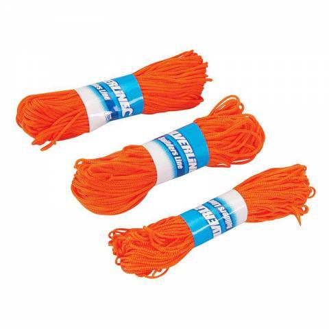 3 ficelles pour cordeaux de maçon