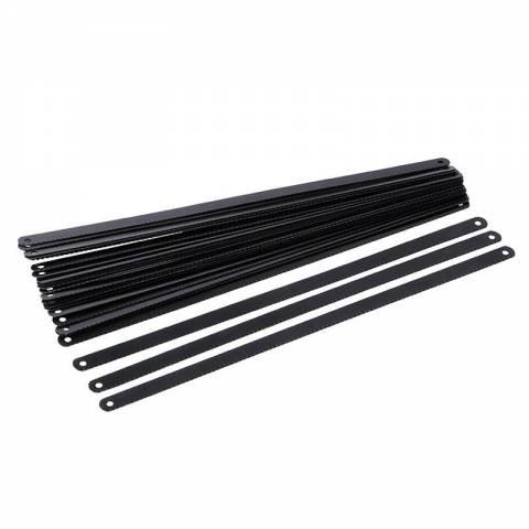 Lot de 24 lames pour scie à métaux en acier carbone