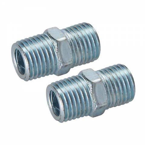 Coupleur rapide à deux extrémités filetées pour tuyau air comprimé
