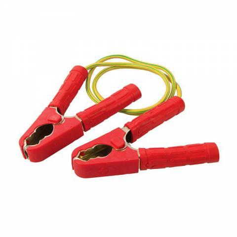 Câble avec pinces pour mise à la terre temporaire