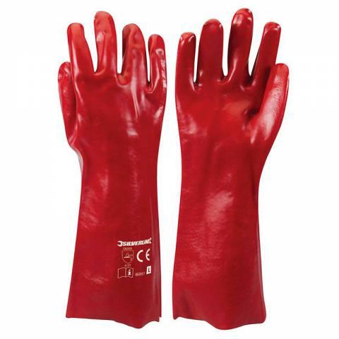 Gants en PVC rouges