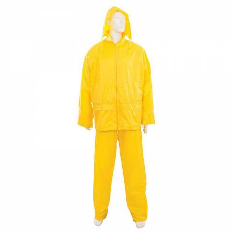 Tenue imperméable jaune