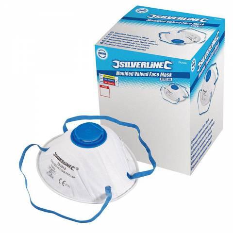 Boîte présentoir de 10 masques respiratoires moulés à valve FFP2 NR