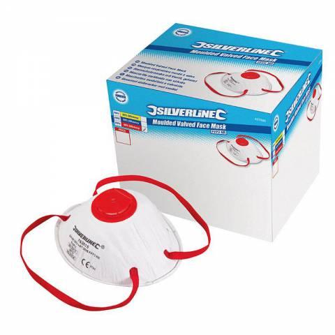Boîte présentoir de 10 masques respiratoires moulés à valve FFP3 NR