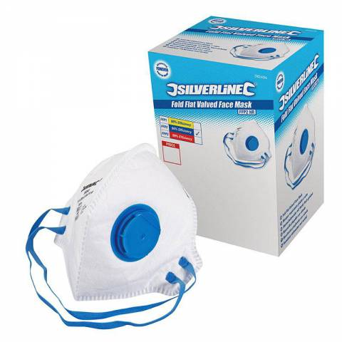 Boîte présentoir de 25 masques respiratoires pliables à valve FFP2 NR
