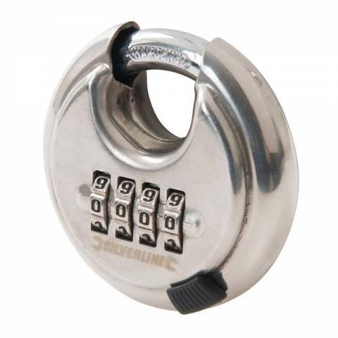 Cadenas avec combinaison à 4 chiffres en acier inoxydable