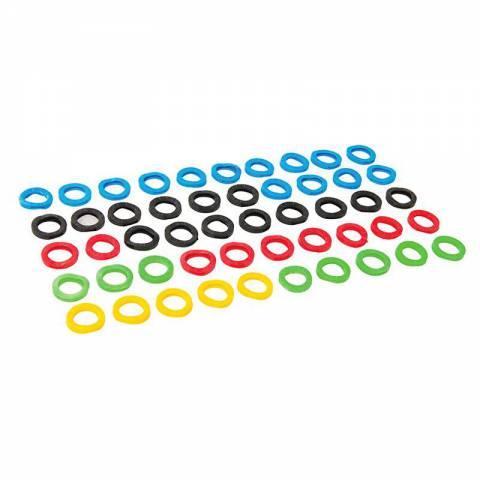 Lot de 50 couvre-clés de couleurs assorties