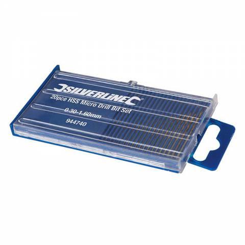 Coffret de 20 micro-forets acier HSS
