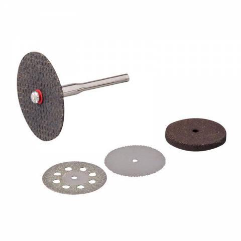 Ensemble de disques de coupe et meules pour outil rotatif 5 pcs