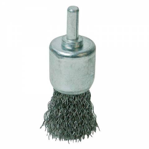 Brosse-pinceau à fils d'acier ondulés