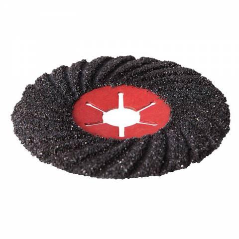 Disque abrasif sur fibre semi-flexible