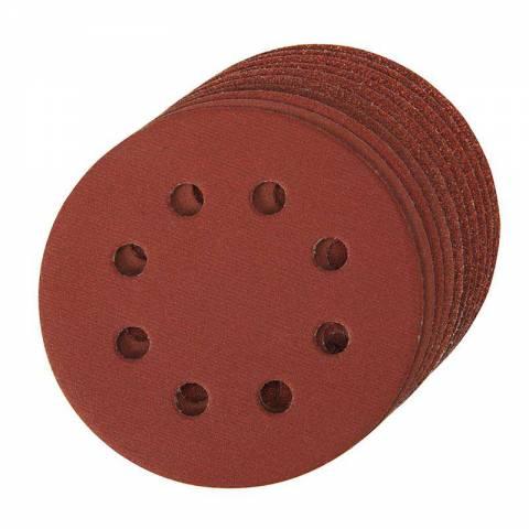 10 disques abrasifs perforés auto-agrippants 115 mm