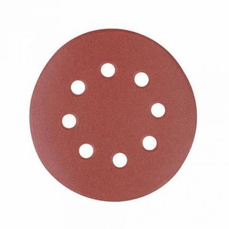 10 disques abrasifs perforés auto-agrippants 125 mm grain 40