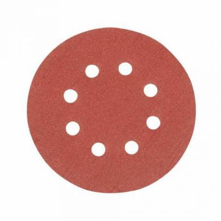 10 disques abrasifs perforés auto-agrippants 125 mm grain 120