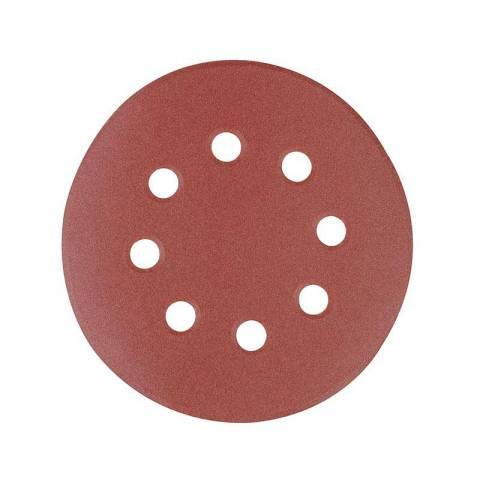 10 disques abrasifs perforés auto-agrippants 125 mm