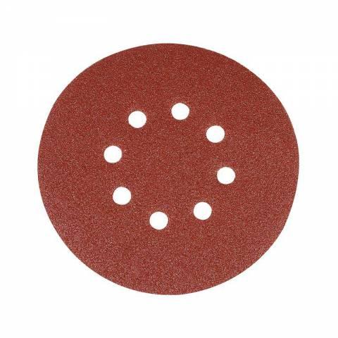 10 disques abrasifs perforés auto-agrippants 150 mm