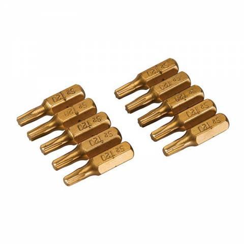 10 embouts dorés T20