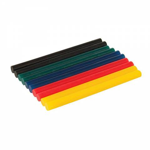 Lot de 10 bâtonnets de colle colorée