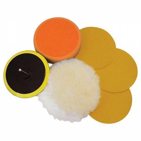 Kit 6 accessoires de ponçage/polissage sur perceuse