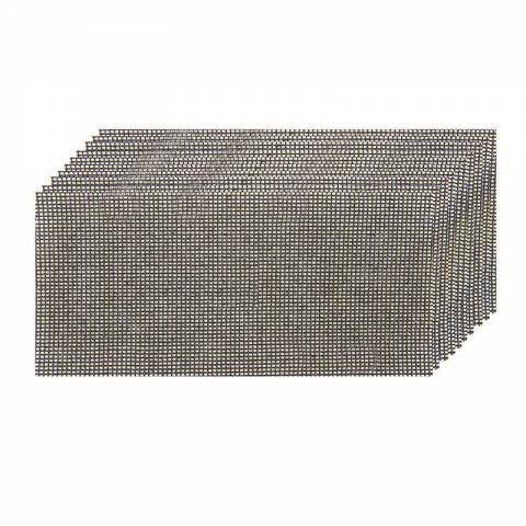Lot de 10 feuilles abrasives treillis 93 x 230 mm