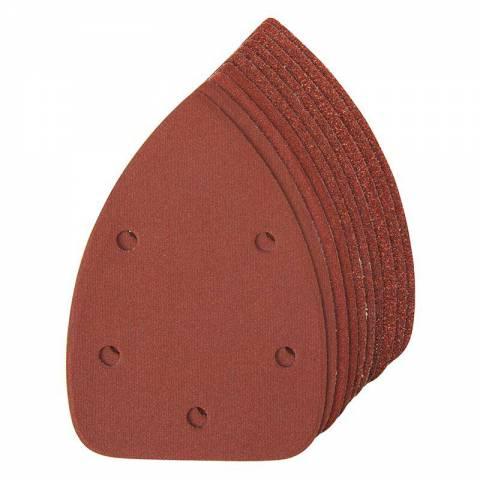 10 feuilles abrasives auto-agrippantes pour ponceuses de finition 140 mm