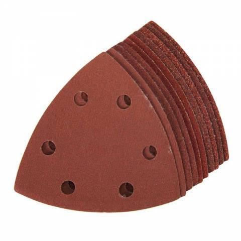 10 feuilles abrasives triangulaires auto-agrippantes 90 mm