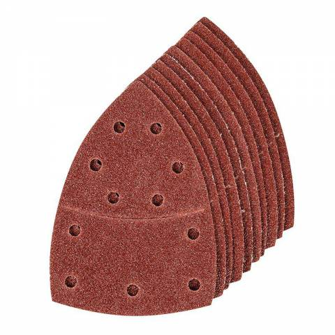 Lot de 10 feuilles abrasives auto-agrippantes 102 x 62 mm
