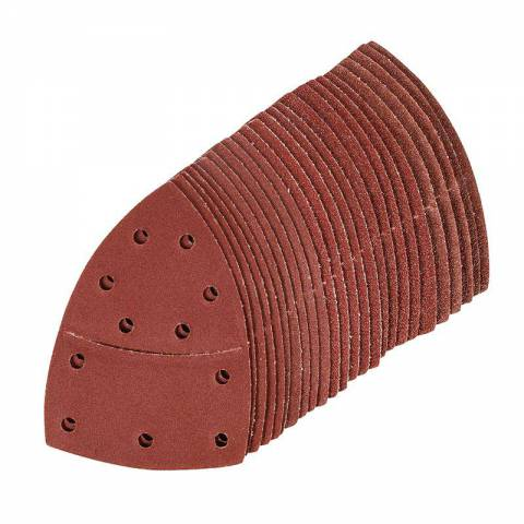 Lot de 25 feuilles abrasives auto-agrippantes 102 x 62 mm