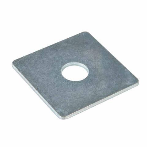 Lot de 10 plaques rondelles plates carrées