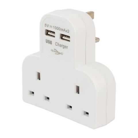 Adaptateur prise secteur avec 2 ports USB