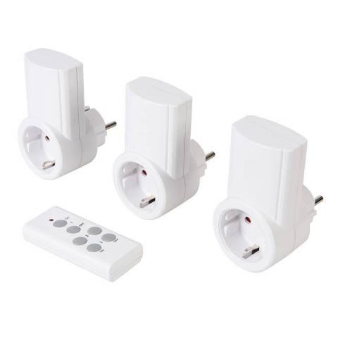 Lot de 3 prises électriques télécommandées 230 V