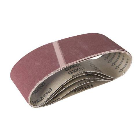 Lot de 5 bandes abrasives en oxyde d'aluminium