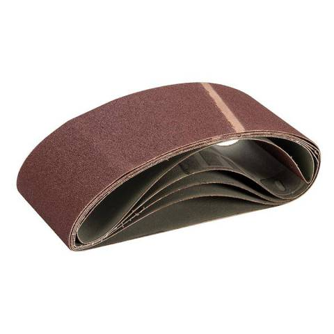 Lot de 5 bandes abrasives 100 x 560 mm