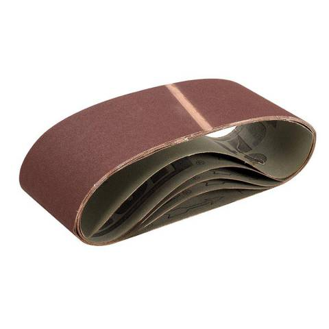 Lot de 5 bandes abrasives 100 x 610 mm