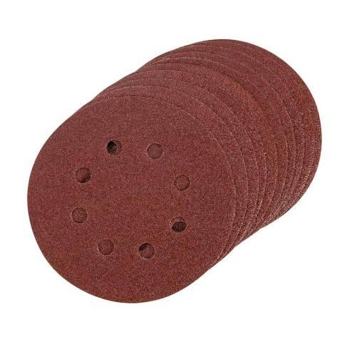 Lot de 10 disques abrasifs treillis auto-agrippants 125 mm